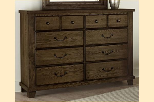 Vaughan Bassett American Oak-Molasses Oak Bureau
