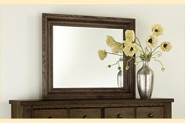 Vaughan Bassett American Oak-Molasses Oak Shadowbox Mirror
