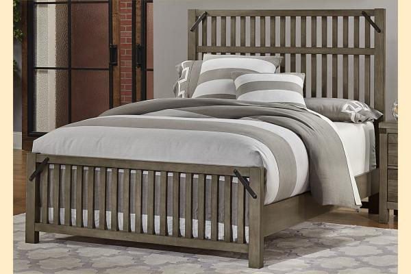 VB Artisan & Post  Sedgwick-Earl Grey Queen Elevator Slat Bed