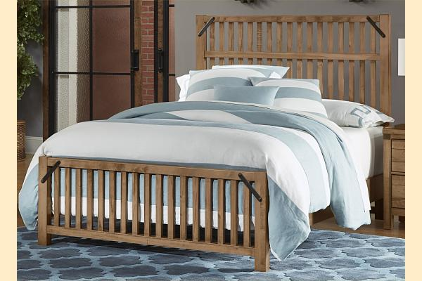 VB Artisan & Post  Sedgwick-Natural Maple Queen Elevator Slat Bed