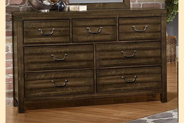 VB Artisan & Post  Sedgwick-Classic Dark Maple Triple Dresser