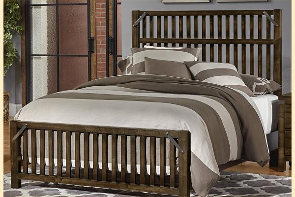 VB Artisan & Post  Sedgwick-Classic Dark Maple Queen Elevator Slat Bed