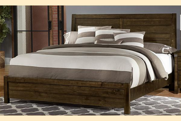 VB Artisan & Post  Sedgwick-Classic Dark Maple Queen Plank Bed