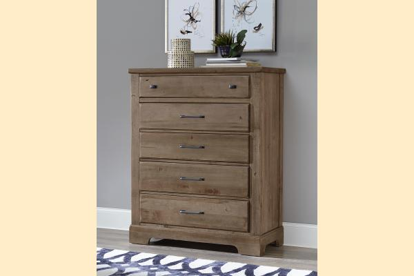VB Artisan & Post  Cool Rustic-Stone Grey Drawer Chest
