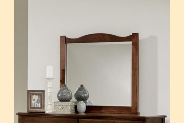 Vaughan Bassett American Maple-Cottage Cherry Landscape Mirror
