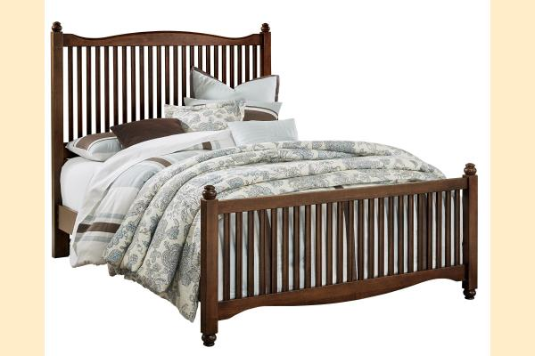 Vaughan Bassett American Maple-Cottage Cherry Queen Slat Bed