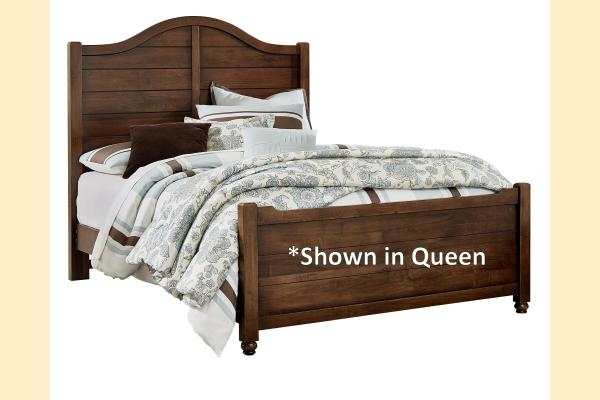 Vaughan Bassett American Maple-Cottage Cherry King Shiplap Bed