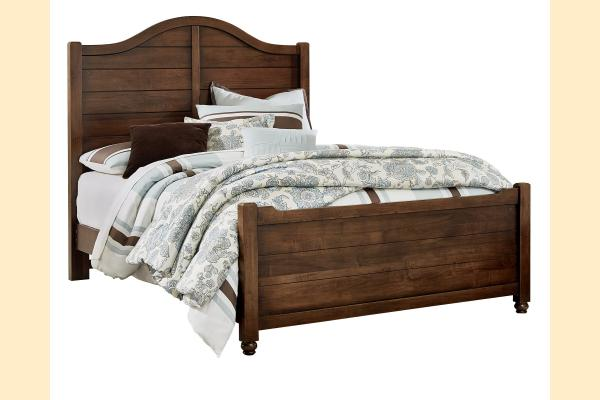 Vaughan Bassett American Maple-Cottage Cherry Queen Shiplap Bed