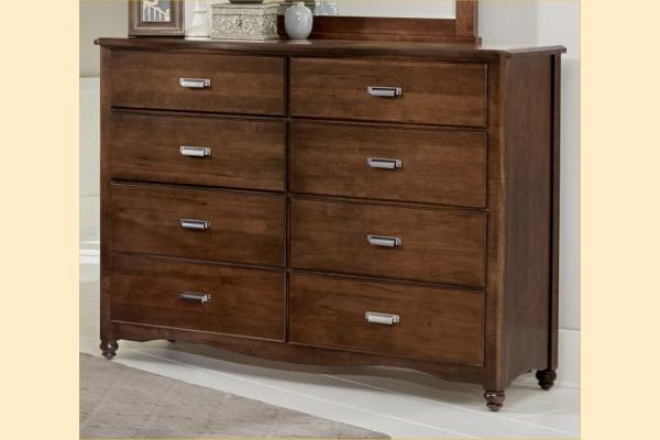 Vaughan Bassett American Maple-Cottage Cherry 8 Drawer Bureau