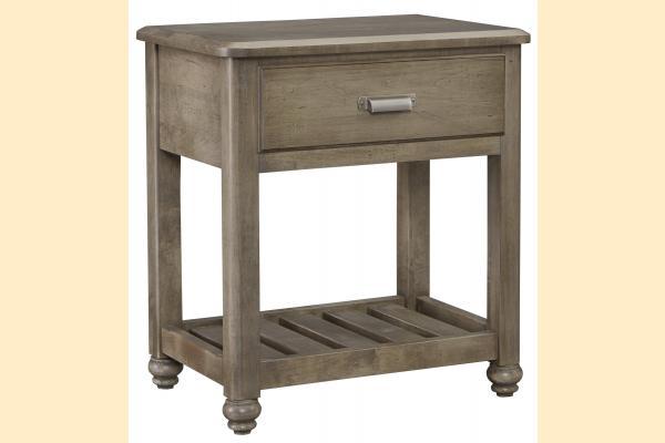 Vaughan Bassett American Maple-Rustic Grey Night Table