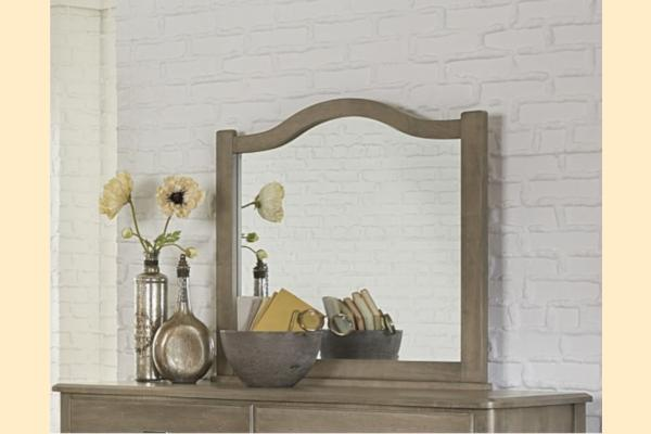 Vaughan Bassett American Maple-Rustic Grey Arched Mirror
