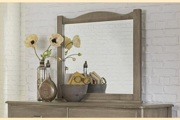 Vaughan Bassett American Maple-Rustic Grey Landscape Mirror