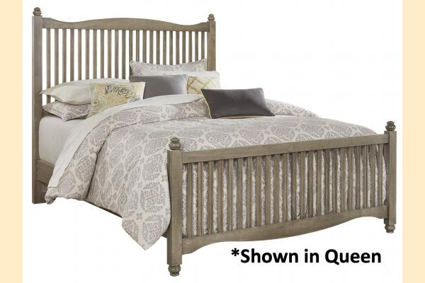 Vaughan Bassett American Maple-Rustic Grey King Slat Bed