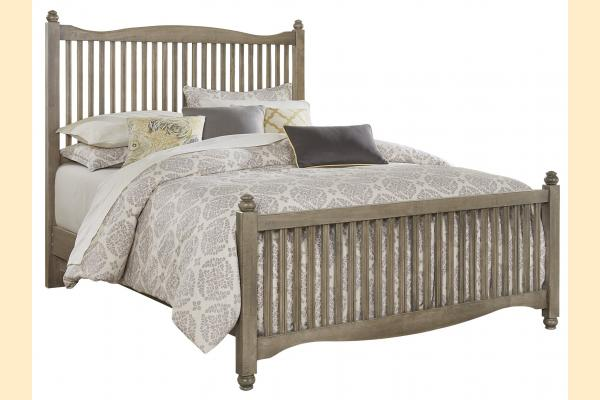 Vaughan Bassett American Maple-Rustic Grey Queen Slat Bed
