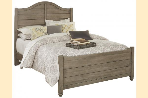 Vaughan Bassett American Maple-Rustic Grey Queen Shiplap Bed