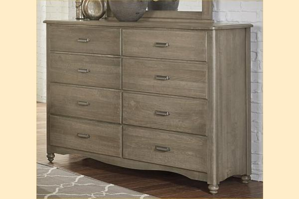 Vaughan Bassett American Maple-Rustic Grey 8 Drawer Bureau