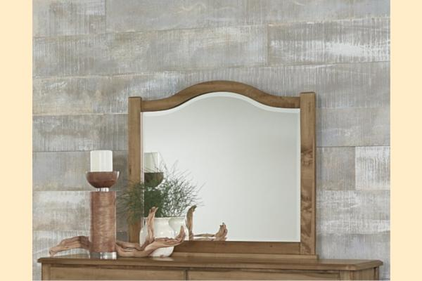 Vaughan Bassett American Maple-Natural Maple Arched Mirror