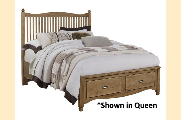 Vaughan Bassett American Maple-Natural Maple King Slat Storage Bed