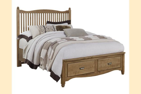Vaughan Bassett American Maple-Natural Maple Queen Slat Storage Bed