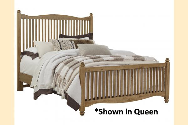 Vaughan Bassett American Maple-Natural Maple Twin Slat Bed