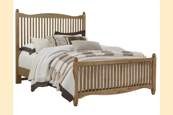 Vaughan Bassett American Maple-Natural Maple Queen Slat Bed