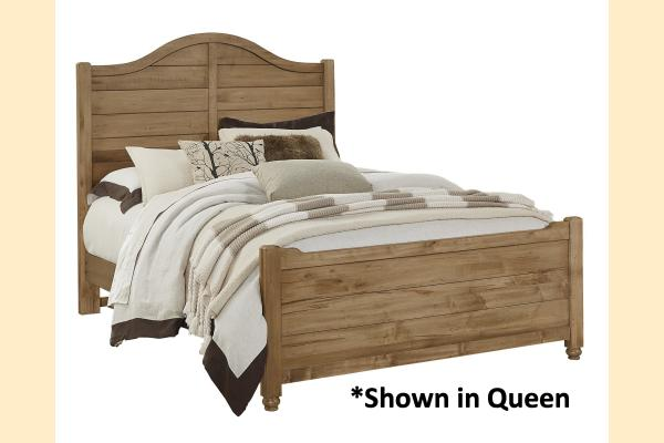 Vaughan Bassett American Maple-Natural Maple Twin Shiplap Bed