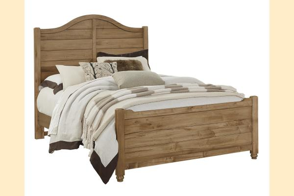 Vaughan Bassett American Maple-Natural Maple Queen Shiplap Bed