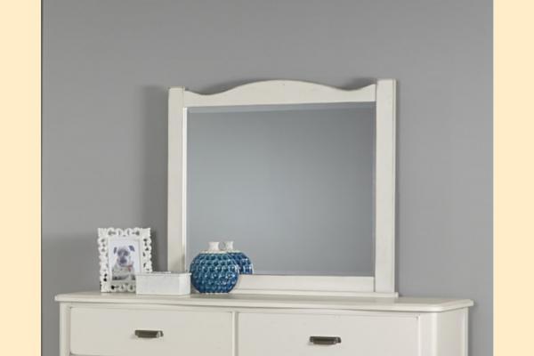 Vaughan Bassett American Maple-Dusky White Landscape Mirror