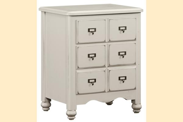 Vaughan Bassett American Maple-Dusky White Apothecary Night Stand
