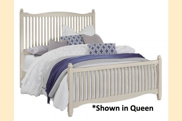 Vaughan Bassett American Maple-Dusky White King Slat Bed