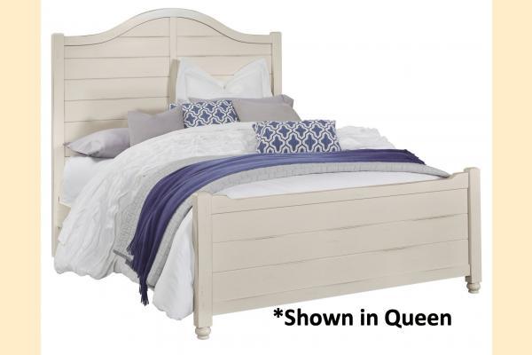 Vaughan Bassett American Maple-Dusky White Full Shiplap Bed