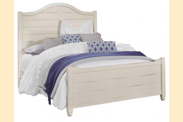 Vaughan Bassett American Maple-Dusky White Queen Shiplap Bed