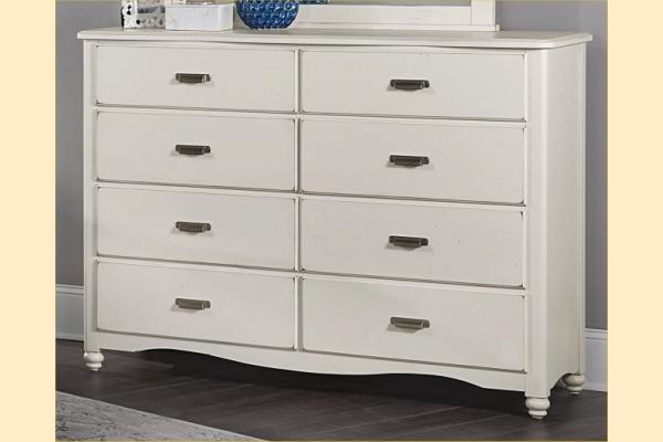 Vaughan Bassett American Maple-Dusky White 8 Drawer Bureau