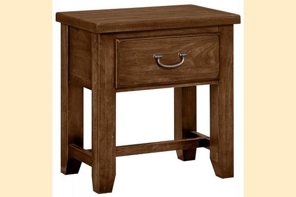 Vaughan Bassett American Cherry-Amish Cherry 1 Drawer Night Table