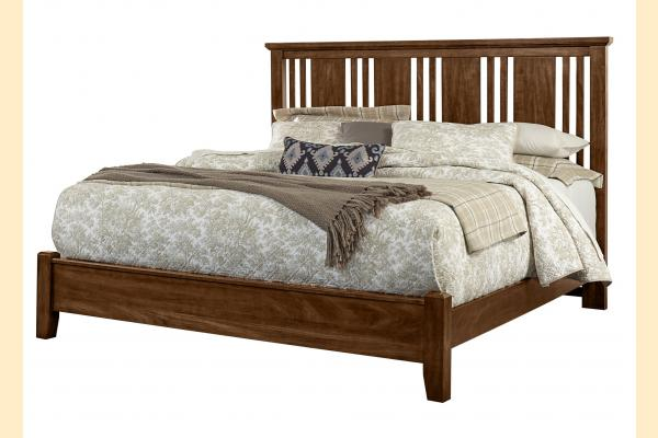 Vaughan Bassett American Cherry-Amish Cherry King Craftsman Bed with Low Profile Foot board
