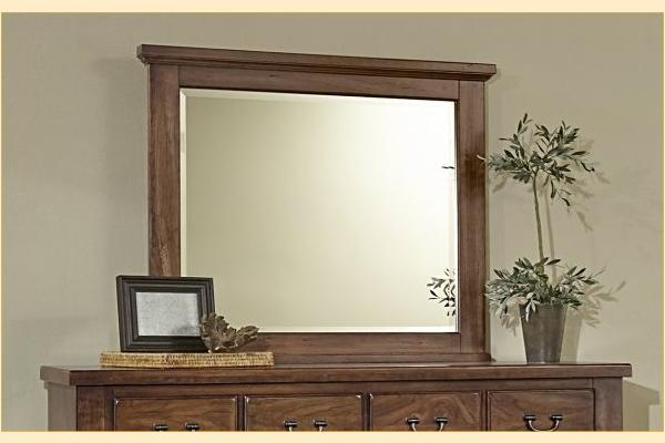 Vaughan Bassett American Cherry-Amish Cherry Landscape Mirror