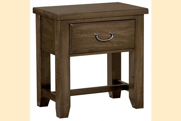 Vaughan Bassett American Cherry-Chestnut 1 Drawer Night Table