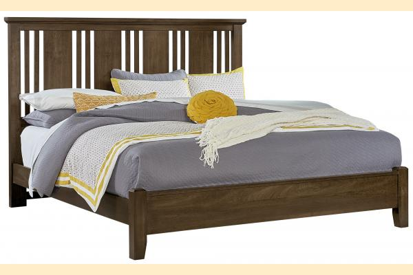 Vaughan Bassett American Cherry-Chestnut Queen Craftsman Bed with Low Profile Foot board