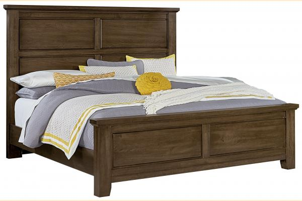 Vaughan Bassett American Cherry-Chestnut Queen Mansion Bed