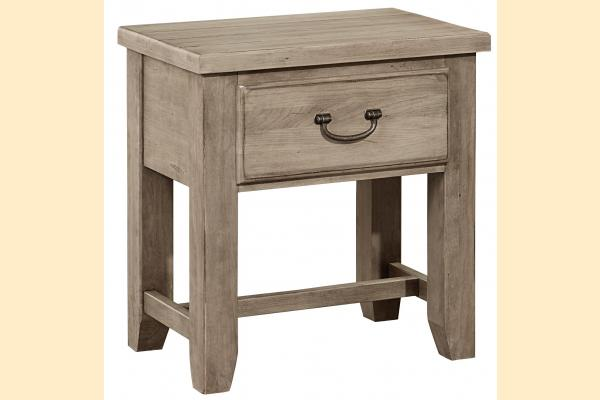 Vaughan Bassett American Cherry-Rustic Sandstone 1 Drawer Night Table