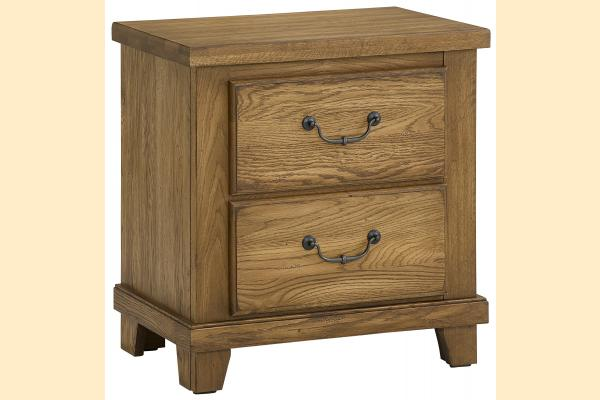 Vaughan Bassett American Oak-Honey Oak Nightstand