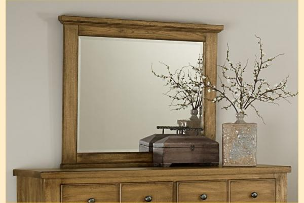 Vaughan Bassett American Oak-Honey Oak Landscape Mirror