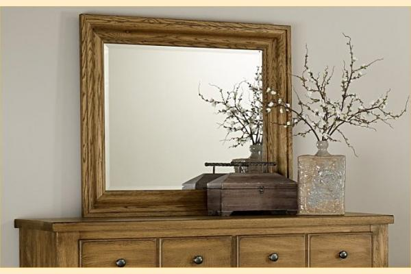 Vaughan Bassett American Oak-Honey Oak Shadowbox Mirror