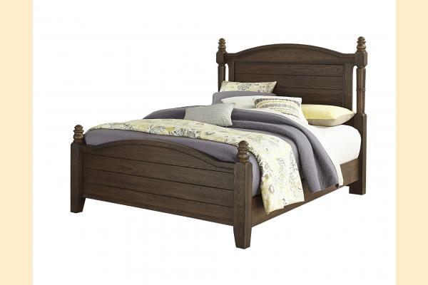 Vaughan Bassett American Oak-Molasses Oak King Poster Bed