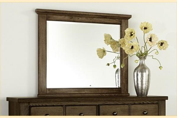 Vaughan Bassett American Oak-Molasses Oak Landscape Mirror