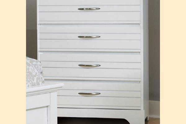Carolina Furniture Platinum Series-White 4 Drawer Chest