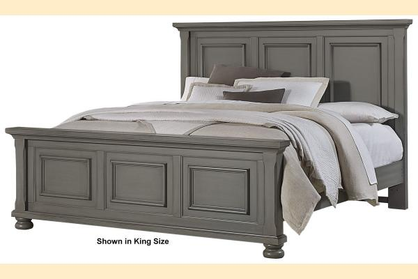 Vaughan Bassett Reflections-Antique Pewter King Mansion Bed