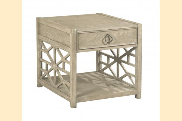 American Drew Vista Biscane Drawer End Table