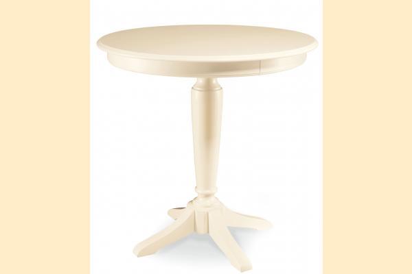 American Drew Camden-Antique White Round Bar Height Pedestal Table