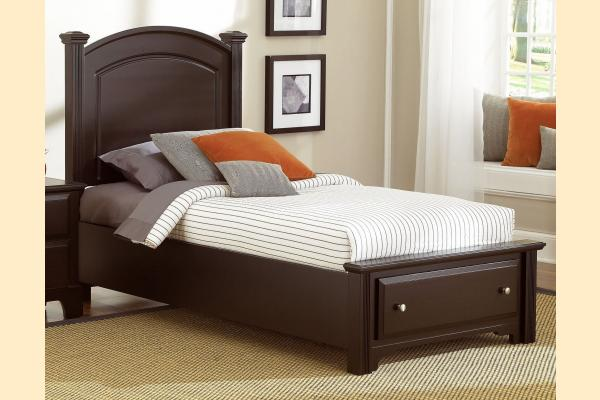 Virginia House Delano-Merlot Twin Panel Storage Bed